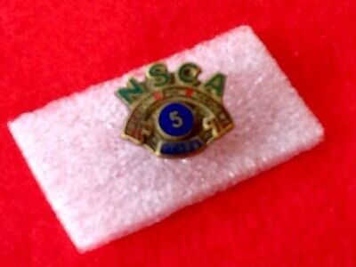 VINTAGE Enamel Badge SAFETY N.S.C.A. 5yrs 'Accident Free' ...  FREE POST
