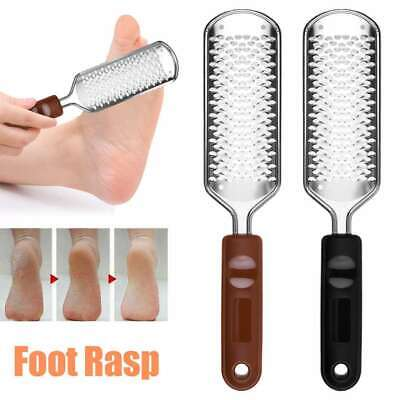 Stainless Steel Foot File Grater Pedicure Rasp Callus Hard Skin Remover Tool New