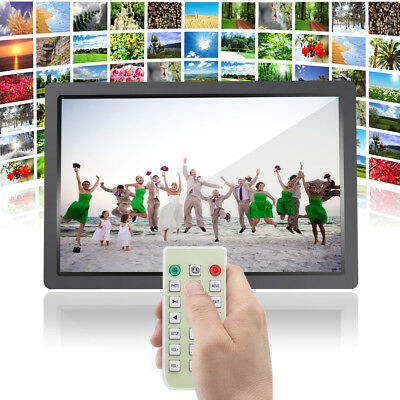 """17"""" HD 1080P LED Digital Photo Picture Frame Video/Movie Player Remote Control"""