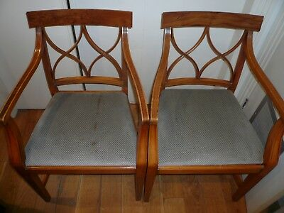 BEVAN FUNNELL REPRODUX YEW DINING CHAIRS x 4