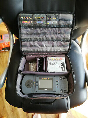Atari Lynx Console With Carry Case 3 Games And Power Supply