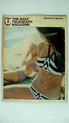 The Daily Telegraph Magazine  14 July 1967 number 145 Knitted Bikinis