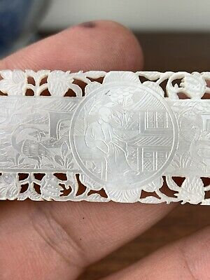 antique chinese mother of pearl gaming counter chips