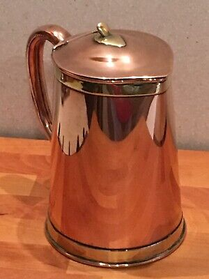 Arts And Craft Copper And Brass Lidded Jug