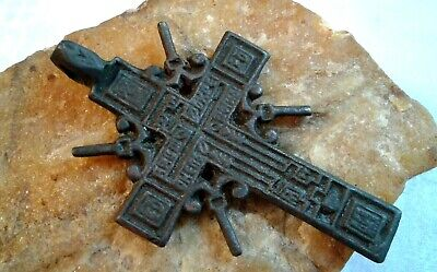 "RARE ANTIQUE 18-19th CENTURY LARGE ORTHODOX ""OLD BELIEVERS"" ORNATE ""SUN"" CROSS"
