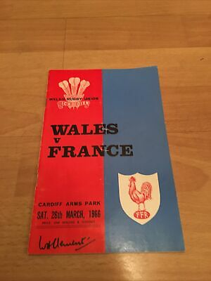 1966-Wales V France-Wales Are Five Nations Champions-Rugby Union Programme-Good