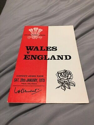 1973-Wales V England-Five Nations-International Rugby Union Programme