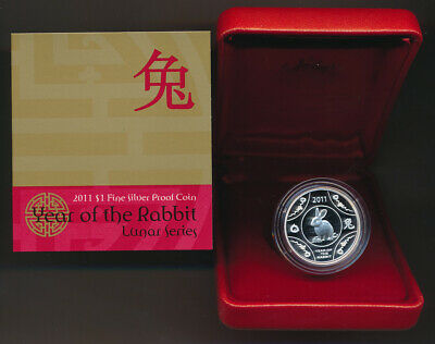 Australia: 2011 $1 Year of the Rabbit Silver Lunar Proof in RAM boxes