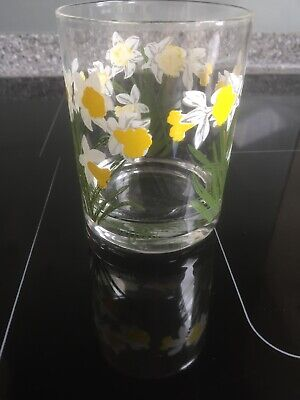 """Cora Vintage Tumbler """"Daffodil"""" Patterned IN EXCELLENT CONDITION"""