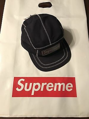 b79eda1e045 SUPREME RAISED SUP Camp Cap Navy FW16 -  79.99