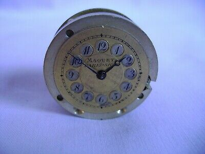 Antique Maquet Clock Movement And Dust Cover