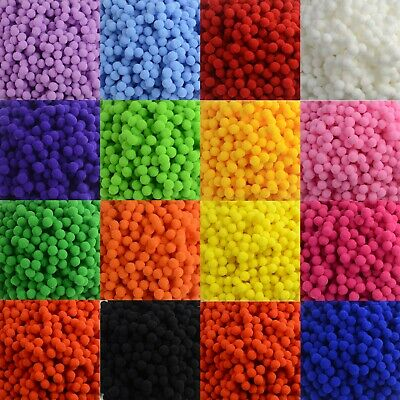 Pompoms Fluffy Craft Pom Poms 10mm Diameter Many Pack Sizes Available