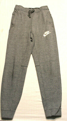 e14d4322 NIKE YOUTH BOYS Jogger Sweatpants Size Medium Solid Gray pockets ...