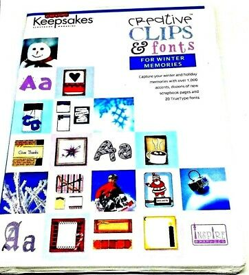 Creating Keepsakes Creative Clips and Font CD for Winter Memories