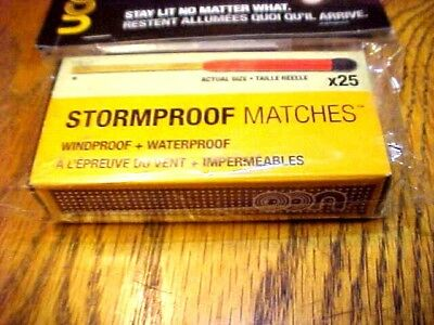 UCO Stormproof Matches 25 Count Survival Camping Hiking Fire Starter Bug Out Kit