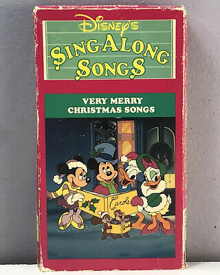 Disney Sing Along Songs Very Merry Christmas Songs 2002.Disney Sing Along Songs Very Merry Christmas Songs Mickey