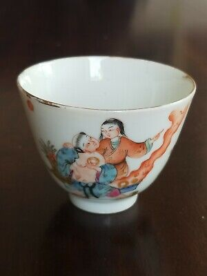 Antique chinese porcelain cup with mark