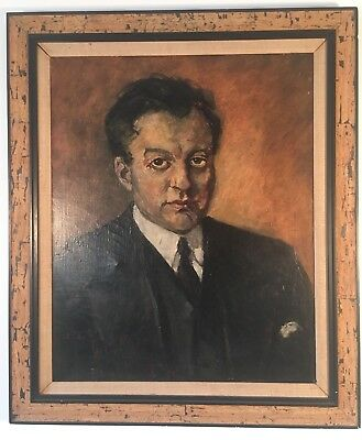 O. Pippin Oil on Canvas Portrait of a Black Man Circa 1932 Dr. Leroy Brown NYC