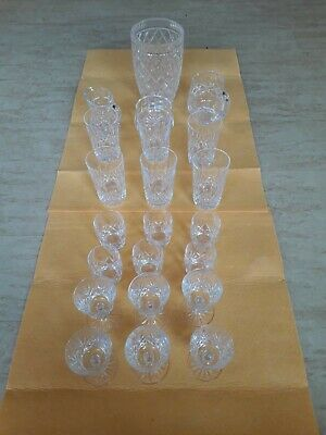 Waterford crystal glassware (Vase, jugs, sugar bowl and glasses)
