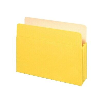 """Staples Colored Top-Tab File Pockets 3.5"""" Expansion Ltr Yw 25/Bx 614653"""