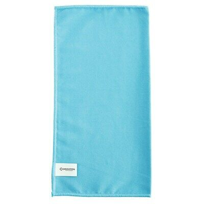 "Brighton Glass Blue Suede Cleaning Microfiber Cloths 16""W x 16""L Pack of 12"