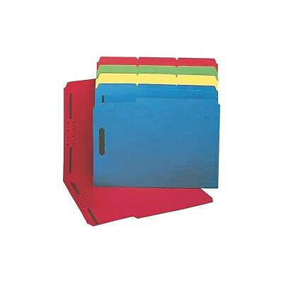Staples Colored Reinforced Tab Fastener Folders Letter Size Assorted 50/Box