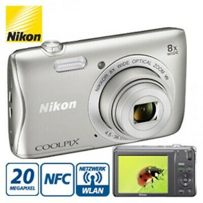 Nikon Coolpix S3700 Wifi Wlan 20.1 MP 8x Zoom NEU Digitalkamera