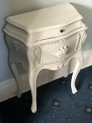 Pretty Painted Bombe Chest Of 2 Drawers