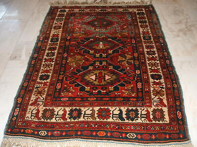 Old Caucasian Tribal Rug Dated Kaukasischer Teppich Datiert Tappeto Caucaso