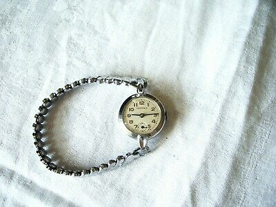A TEMPEX VINTAGE 1950's SWISS MADE MANUAL WIND WRISTWATCH and BRACELET WORKING