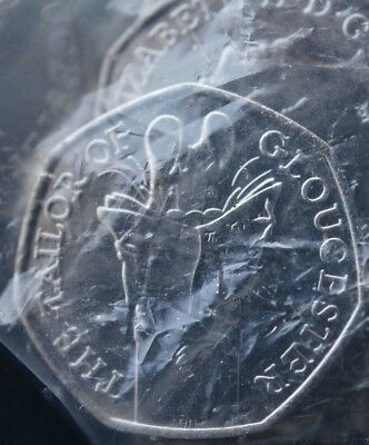 Sealed Mint Bag of 20x2018 Tailor of Gloucester 50p Coin Beatrix Potter Uncircul
