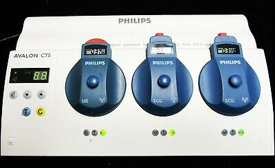 Philips M2720A Avalon CTS Base Station With Wireless Transducer ECG,TOCO,US 2015