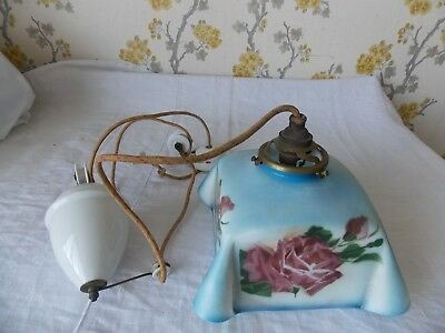 Vintage/antique French 1920s  Rise and Fall counterweight Ceiling Light