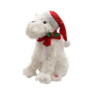 Musical Dancing Dog Christmas Terrier Character Decoration by Premier 30cm