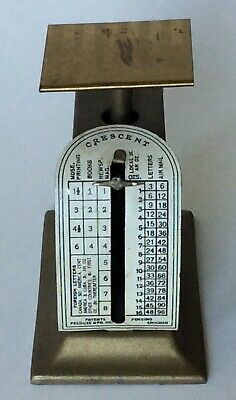 Vtg PELOUZE Crescent Postal Postage Scale 16 oz ~ Chicago USA Desk Accessory