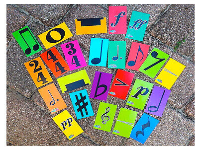24 Music Notation Signs / Flashcards / MrMikesMusicMats