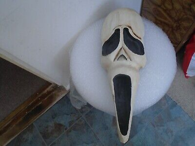 Awesome large wooden SCREAM mask   Curious wall hanging horror mask  TAKE A LOOK