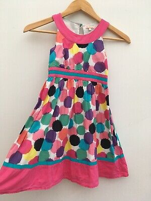 Debenhams Girls Pink Spots A-line Dress Summer Holiday Party Wedding Age 7 Years