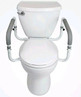 Vive Toilet Seat Safety Rail Adj Grab Bar Compact Support Frame w/ Handrail