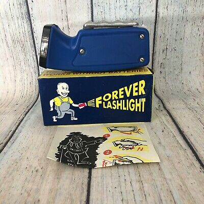 Forever Flashlight - Emergency Light Blue Hand-Powered Vintage - Made in Russia