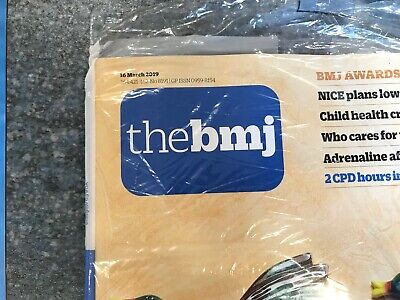 New latest British Medical Journal BMJ 16 March 2019 No. 8191