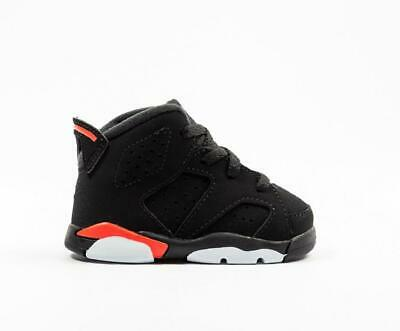 c36948af0f90 Nike Air Jordan VI 6 Black Infrared Toddler TD 384667-060 US 4-9C