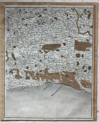 Genuine antique map of parts of Surrey & Sussex by John Cary 1794 Brighton