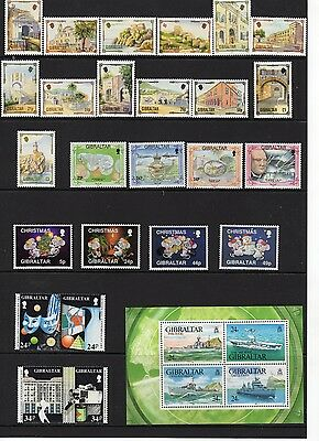 1993 Gibraltar Complete Year Set - NH - Commemoratives and Definitives