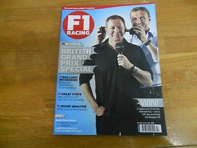 F1 Racing Magazine #185 July 11 Grand Prix Special Damon Hill Stirling Moss