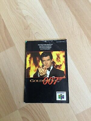 Nintento 64 N64 007 James Bond Goldeneye Instruction Game Manual Booklet