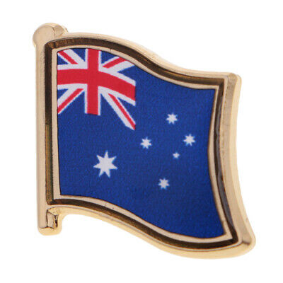 Australia Country Flag Model Metal Lapel Pin Badge for Backpack Tie Unisex