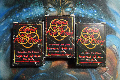 3x Legend of the Five Rings L5R Imperial Edition Clan Deck - Dragon Unicorn Crab