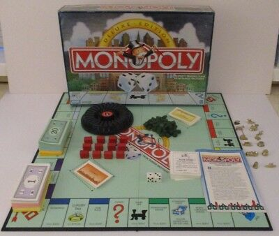 Monopoly Deluxe Edition Board Game USA Version 1998 100% Complete