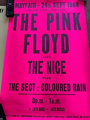 Reproduction Pink Floyd Poster - Newcastle Mayfair - Sept 1968